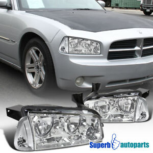 For 2006 2010 Dodge Charger Headlights Replacement W Corner Lamps