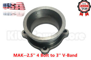 Exhaust Flange Adapter Conversion Kit 2 5 Turbo Downpipe 4 Bolt To 3 V Band
