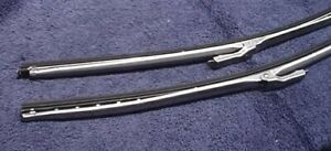 New Stainless Steel Wiper Blades Arms Dodge Charger Coronet 65 66 67 68 69 70