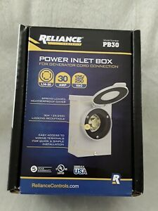 New Reliance Controls 30 Amp Power Inlet Box For Generator Cord Connection Pb30