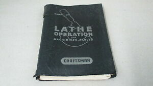 Original Manual Of Lathe Operation And Machinists Tables By Atlas Press Co