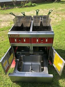 Vulcan Double Fryer Model 2erd50f 480 Volts 3 Phase Filtration Xtra Clean