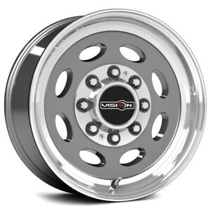 4 vision 81 Hauler 19 5x7 5 8x180 25mm Gunmetal Wheels Rims 19 5 Inch