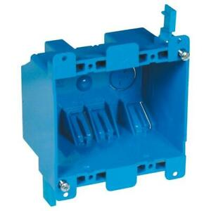 Carlon 2 gang 25 Cu In Blue Pvc Old Work Electrical Switch And Outlet Box