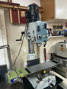 Acra Rf 40n2f Gear Head Milling drilling Machine With Power Down Feed And Y Axis