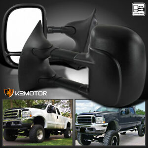 For 1999 2016 Ford F250 F350 F450 Super Duty Manual Towing Side Mirrors Pair