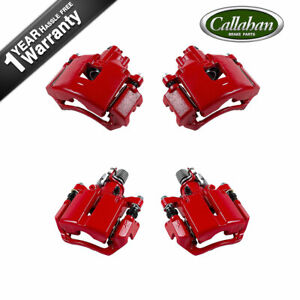 For Buick Allure Lacrosse Grand Prix Front And Rear Red Coated Calipers