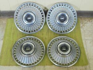 1963 Chevrolet Hub Caps 14 Set Of 4 Chevy Hubcaps Wheel Covers 63