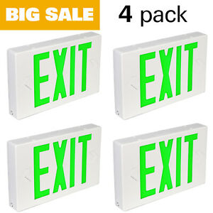 Hykolity Exit Sign Led Emergency Light With Two Head And Backup Battery 6 Pack