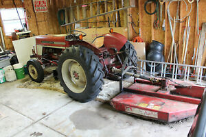 1972 International 364 Tractor Bush Hog And Seeders
