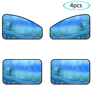 4pcs Magnetic Car Window Sunshade Auto Visor Shield Curtain Cover Summer Cool