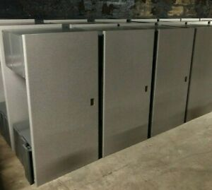 Lot Of 14 Invincible Metal Furniture All steel Office Cube Desk 30x60 Inch