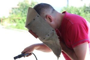 Vintage Welders Mask With Handle Face Protector For Welding Face Shield