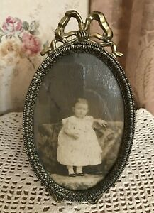 Vintage Ornate Metal Oval Frame Made In Italy English Victorian Style