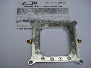 New Hbr nos nx zex Holley 4150 Polished Perimeter Pro Nitrous Plate Kit 50 375hp