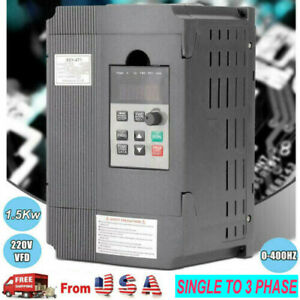 Ac 220v 1 5kw Variable Frequency Drive Vfd Inverter Single Phase To 3 Phase 2hp