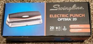 Swingline 20 sheet Optima Electric battery Three hole Punch 9 32 Holes Silver