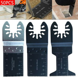 50 Pack Universal Oscillating Multi Tool Saw Blades Carbon Steel Cutter Diy Tool
