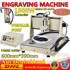 3 Axis Cnc 6040 Router Engraver Woodwork Metal Cutting Machine 1 5kw Controller