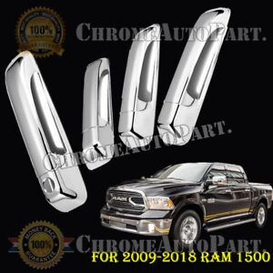 For 2009 2018 Dodge Ram 1500 2500 3500 Mirror Chrome Door Handle Cover Cap