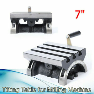 7 Heavy Duty Adjustable Swivel Angle Plate Tilting Table For Milling Machines