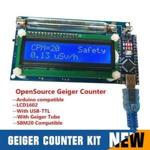 Assembled Geiger Counter Nuclear Radiation Detector System lcd Arduino Nano New