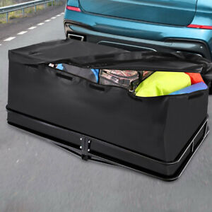 Waterproof Universal Cargo Luggage Carrier Bag Hitch Mount 20 Cu Ft For Car Suv