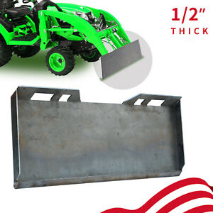 1 2 Quick Tach Attachment Mount Plate Heavy Duty Steel Front Loader Plate
