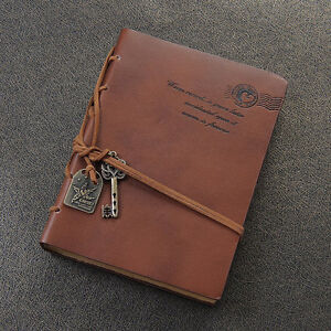 Leather Classic Retro Diary Notebook Vintage Travel Notepad Journal Writing Gift