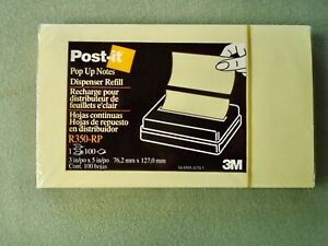 Lot 11 Pop Up Post It Note Pads 3x5 3m R350 rp Canary Yellow 100 Sheets Per Pad