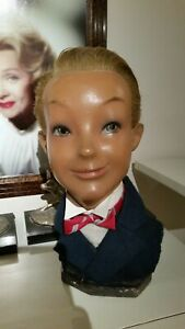 Vintage Mannequin Head Bust Of A Boy Possibly Tintin Pierre Imans Hairs Inserted
