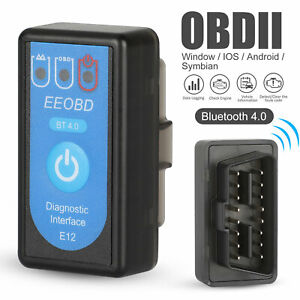 Automotive Bluetooth Obd2 Car Scanner Code Reader Android Iphone Diagnostic Tool
