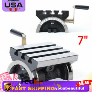 7 Adjustable Swivel Angle Plate Heavy Duty Tilting Table For Milling Machine