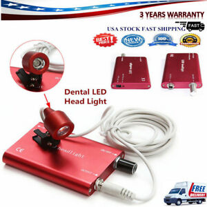 6 Dental Surgical Led Light Headlight Lamp With Battery For Dental Loupe Usa