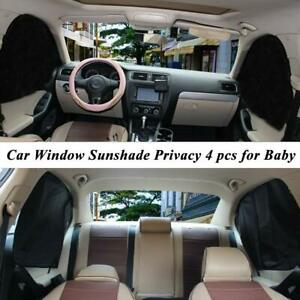 4pcs Magnetic Car Side Window Sunshade Uv Protection Curtain Cover Accessories