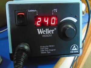 Weller Wesd51 Digital Solder Base Station With Stand And Soldering Iron