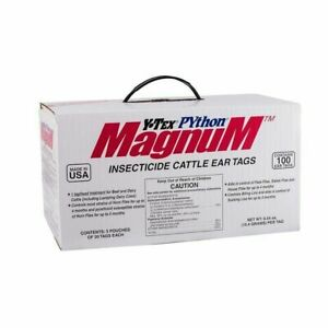Y tex Corporation 1857003 Python Magnum 100 Count Per Box Insecticide Cattle Ear
