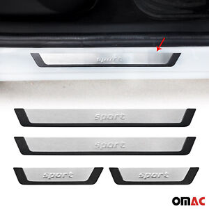 For Subaru Impreza Door Sill Cover Protector Guard Flexible Stainless Steel Trim