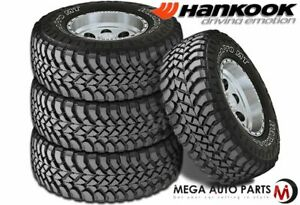 4 Hankook Dynapro Mt Rt03 33x12 50r20 114q E 10 Off Road Performance Mud Tires