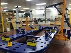 20 Feet 4 Towers Auto Body Shop Frame Machine Rack With Free Clamps Tools Cart