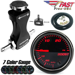 0 30psi Manual Boost Controller Kit Black W 52mm 7 color Adjustment Boost Gauge