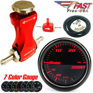 0 30psi Manual Boost Controller Kit Red W 52mm 7 color Adjustment Boost Gauge