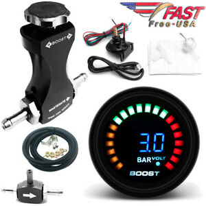 0 3 Bar Manual Boost Controller Kit With 52mm Electronic Boost Gauge Smart Turbo