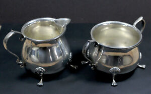 Revere Silversmiths Sterling Silver Sugar Bowl And Creamer 1051 Excellent