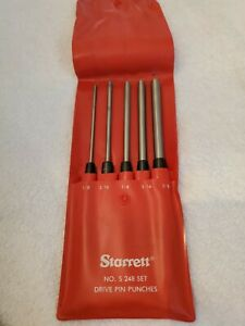Starrett S248 8 Drive Pin Punch Set