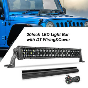 2x Fog Light Kit W dot Sae Pro Led Light Led Pods Offroad Truck W wiring Harness