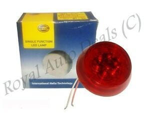 Genuine Hella 12 Volt Led Rear Round Shape Single Function Lamp Red Brand New us