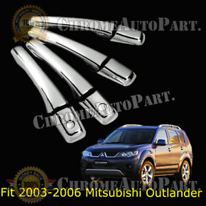 Chrome Door Handle Covers For Mitsubishi Outlander 2003 2004 2005 2006