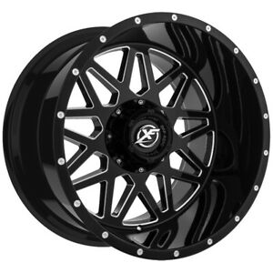 4 xf Offroad Xf 211 22x10 5x5 5x5 5 12mm Black milled Wheels Rims 22 Inch