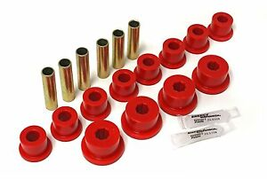 Energy Suspension 1 2102 Leaf Spring Bushing Set Red Polyurethane Suzuki Samurai
